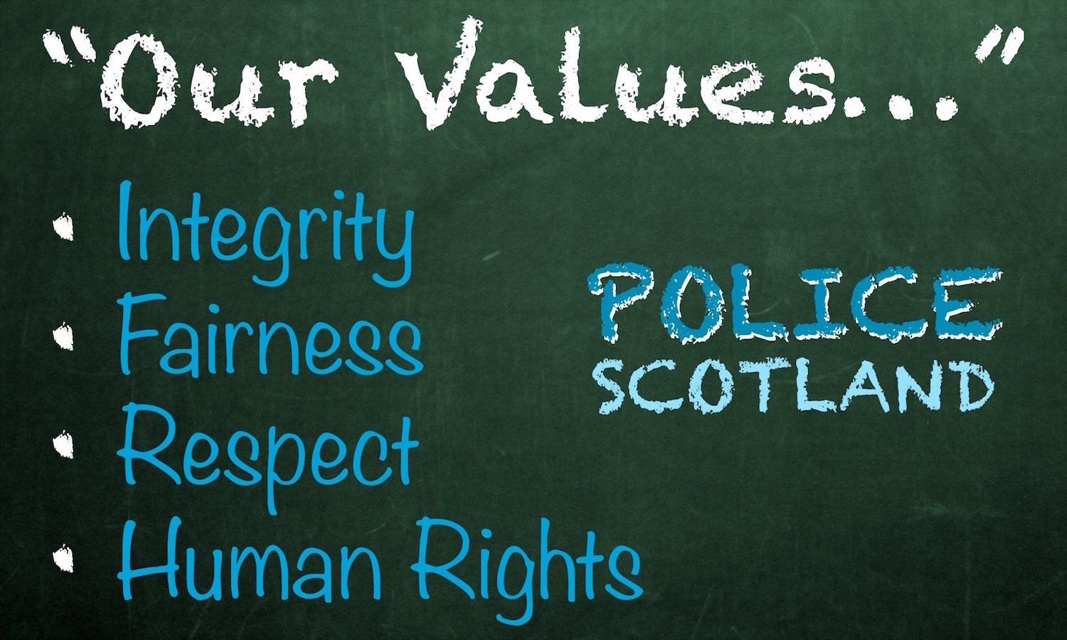 Police Scotland promotion values