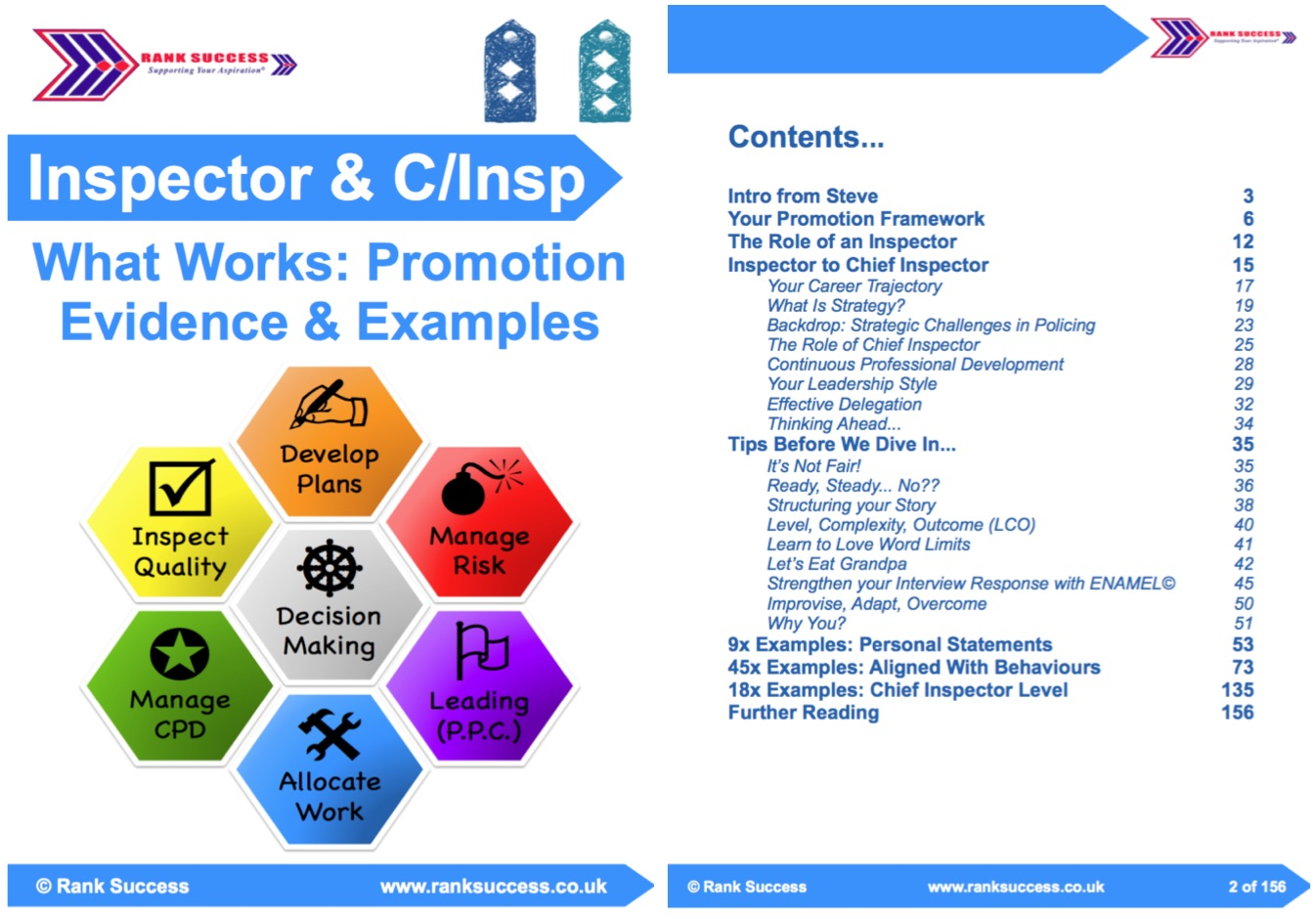 Chief Inspector Examples