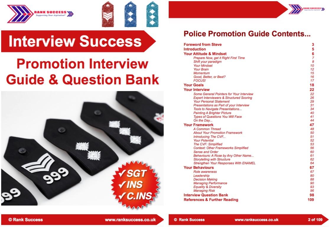 Promotion board inspector sergeant